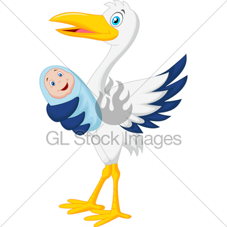 325x325 Stork And Baby Gl Stock Images