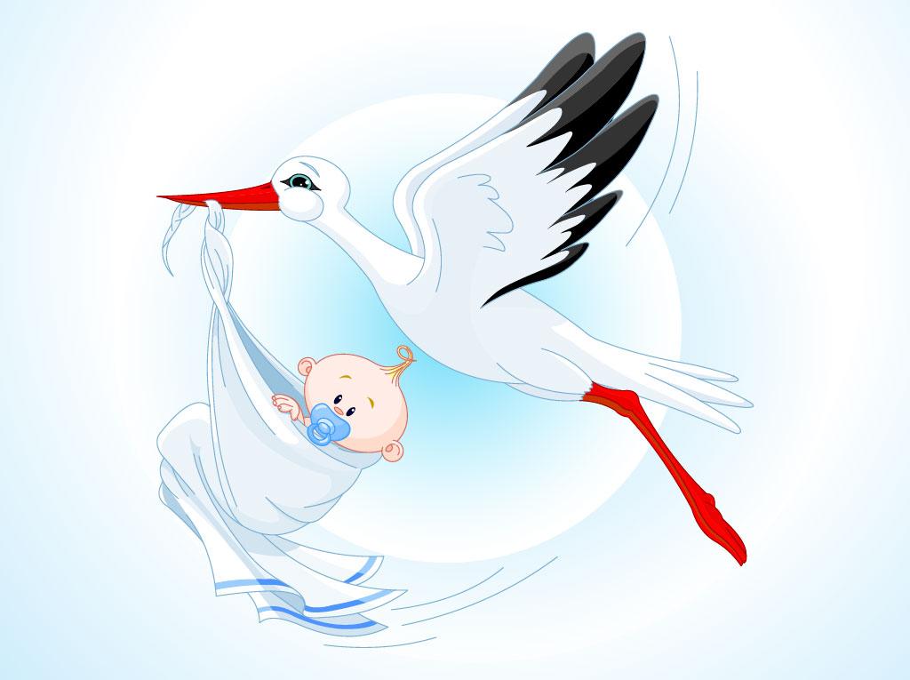 1024x765 Stork Baby Cartoon Vector Art Amp Graphics