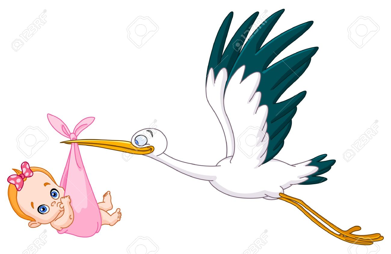 1300x847 Stork Carrying Baby Clipart