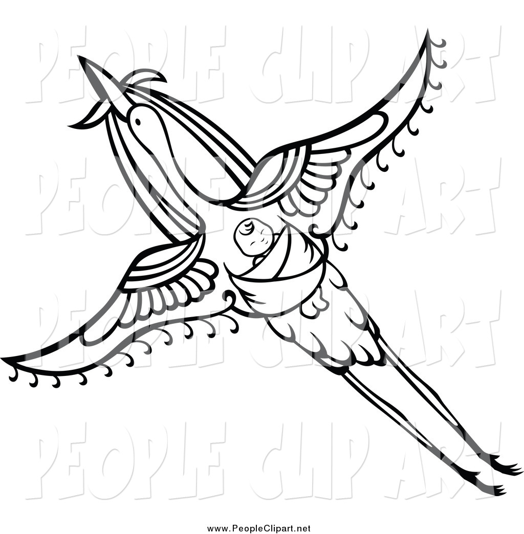 1024x1044 Stork Baby Black And White Clipart