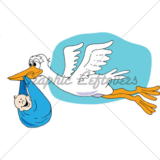 325x325 Stork Carrying Baby Gl Stock Images