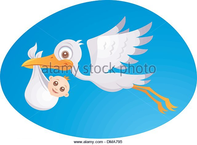640x469 Stork Delivering Baby Stock Photos Amp Stork Delivering Baby Stock
