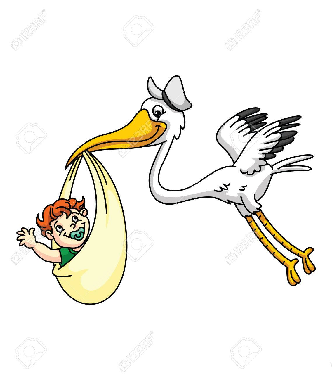 1137x1300 Stork With New Born Baby Royalty Free Cliparts, Vectors, And Stock