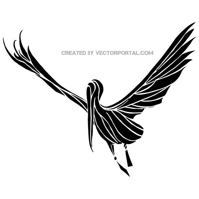 660x660 Stork Vector Clip Art
