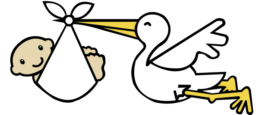 928x400 Stork Clipart Childbirth
