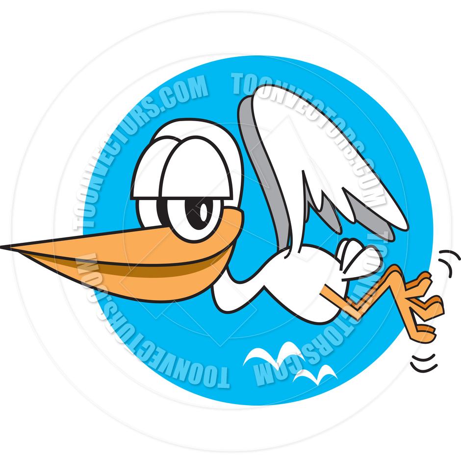 940x940 Cartoon Stork Vector Illustration By Clip Art Guy Toon Vectors