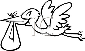 350x212 Royalty Free Stork Clip Art, Bird Clipart