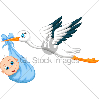 325x325 Stork And Baby Boy Gl Stock Images