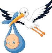 167x170 Stork And Baby Clip Art