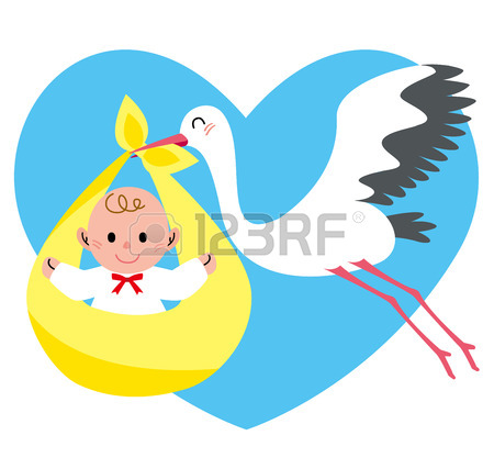 450x427 133 Stork Flying With Bundle Stock Illustrations, Cliparts