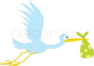 320x225 Stork Icon Stock Vector Colourbox