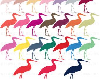 340x270 Stork Clipart Etsy