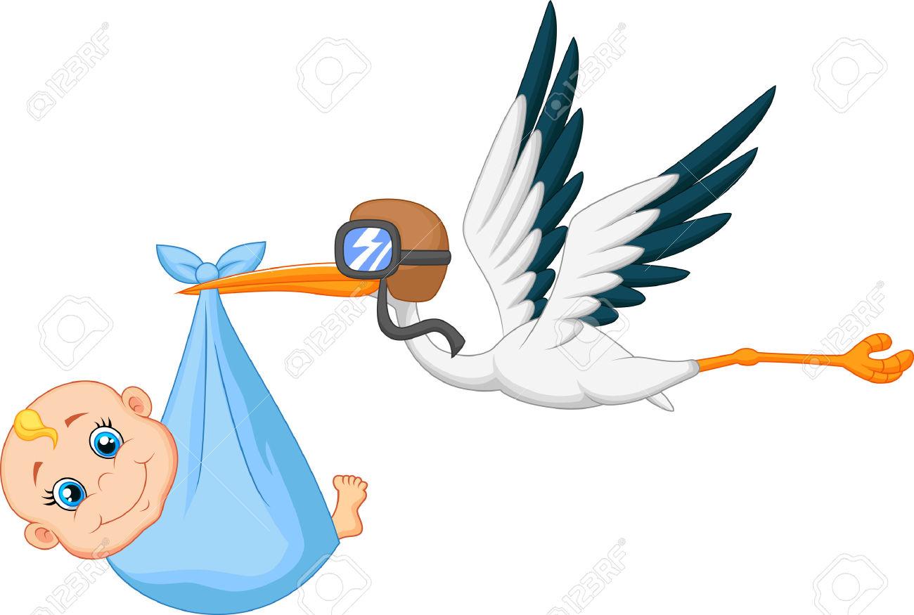 1300x875 Stork Clipart Baby Logo