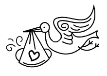 220x156 Stork Clipart Black And White