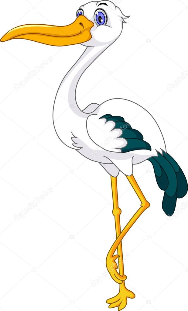 619x1023 Cute Stork Cartoon Stock Vector Starlight789