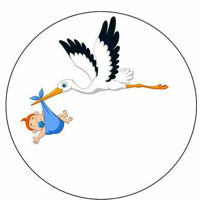 Stork With Baby Clipart