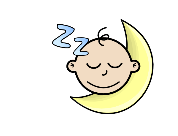 600x458 Free Sleeping Baby Clipart Image