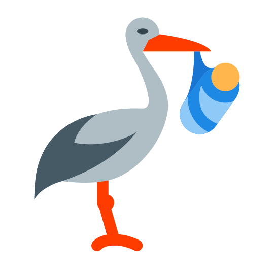 540x540 Icons For Baby Stork Icon