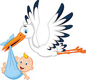 170x158 Stork Carrying Baby Clip Art