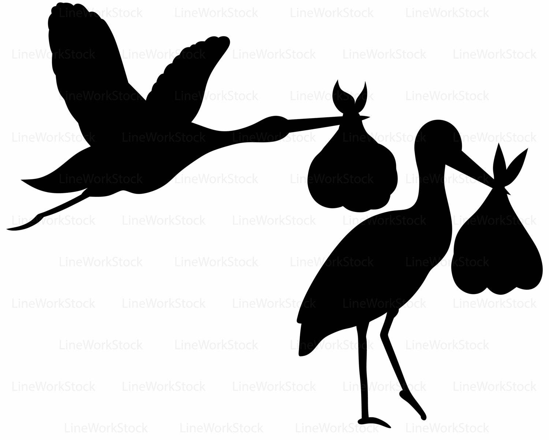 1500x1200 Stork Baby Shower Svg,stork Baby Clipart,stork Svg,stork Baby