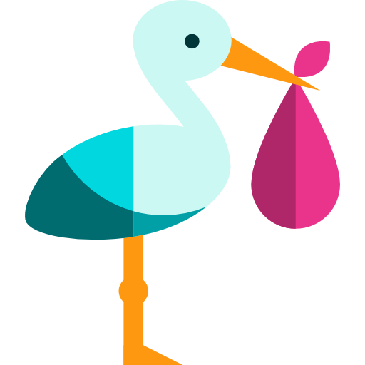 512x512 Stork Clipart Baby Icon