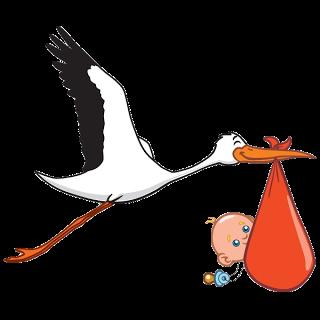 320x320 Stork Clipart Cute