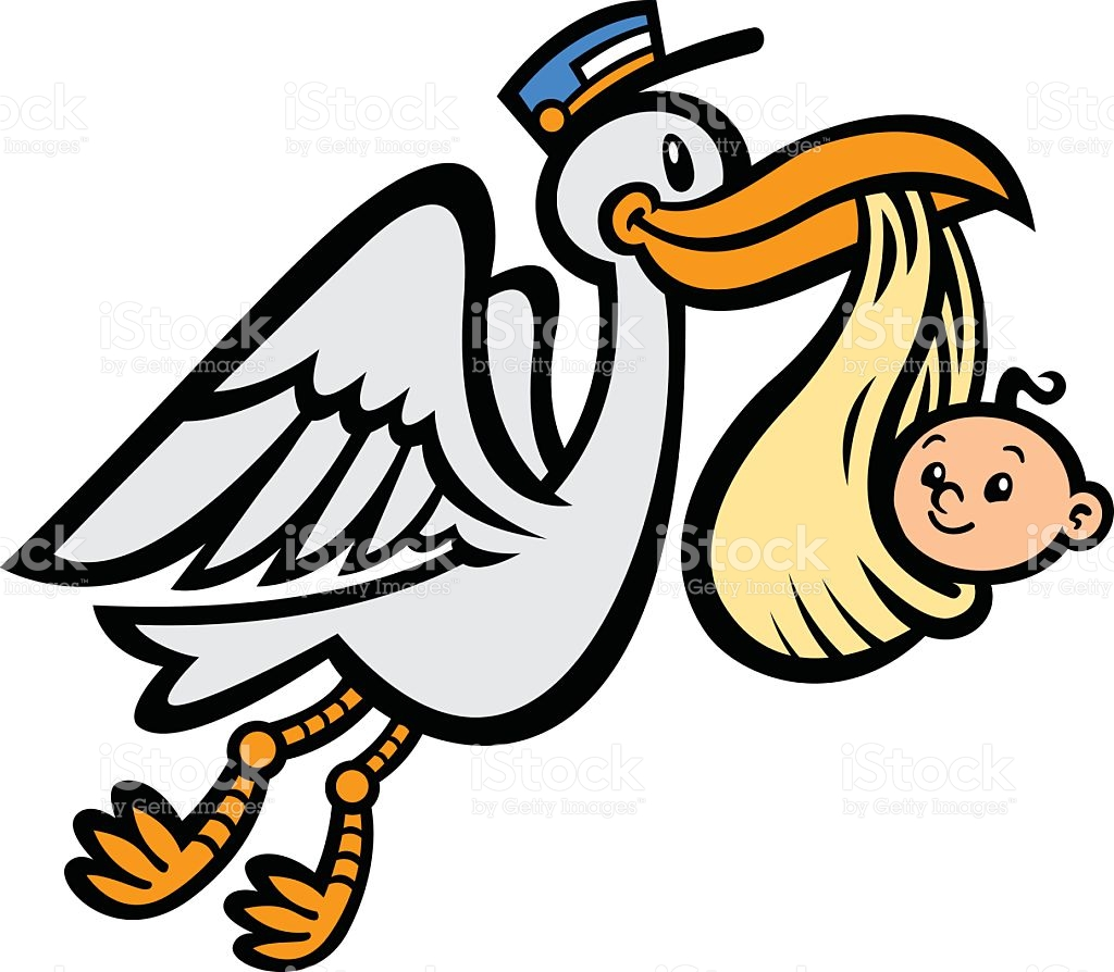 1024x894 Stork Clipart Delivers Baby