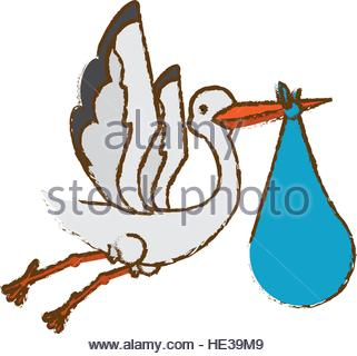 321x320 Stork Flying Isolated Icon Stock Vector Art Amp Illustration, Vector
