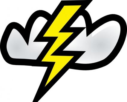 425x342 Cloud Cartoon Signs Symbols Clouds Lightning Weather Rain Storm