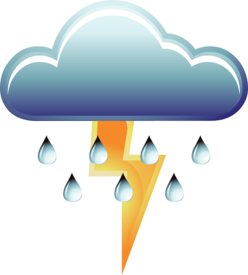 361x400 Thunderstorm Clipart