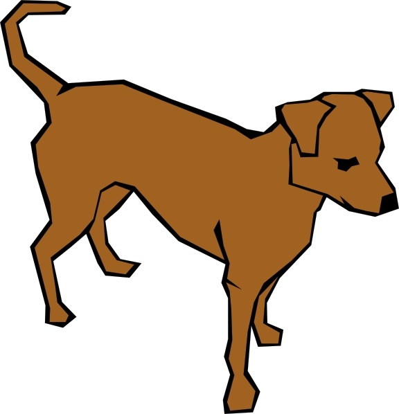 576x598 Dog 06 Drawn With Straight Lines Clip Art Free Vector In Open