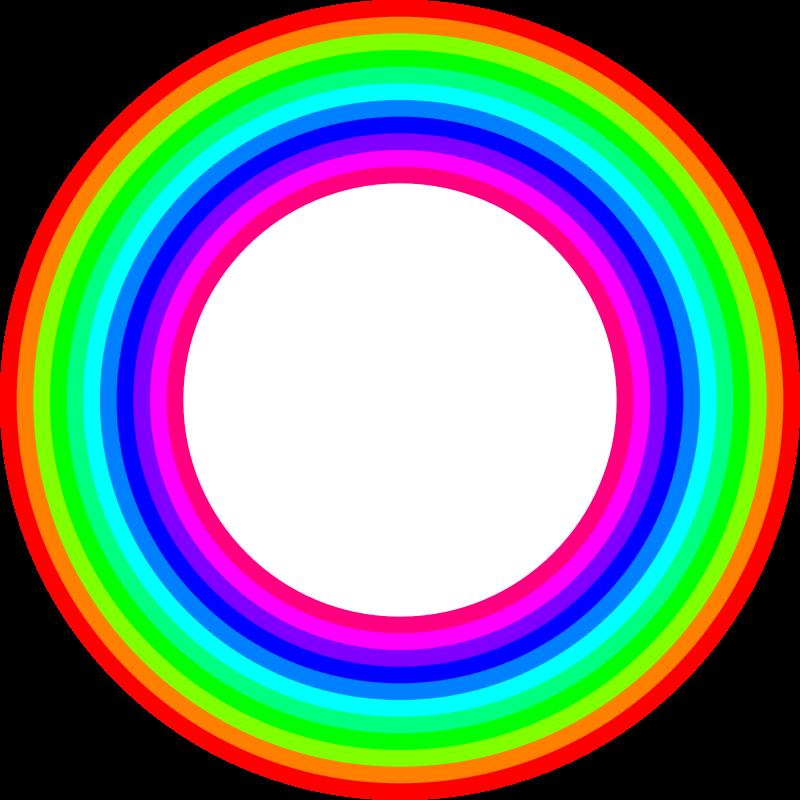800x800 12 Color Rainbow Donut Clip Art Download