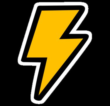 375x360 Lightning Bolt Straight Flash Clip Art