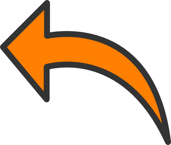 600x509 Orange Arrow Clip Art