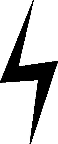 240x593 Straight Down Black Lightning Bolt Clip Art