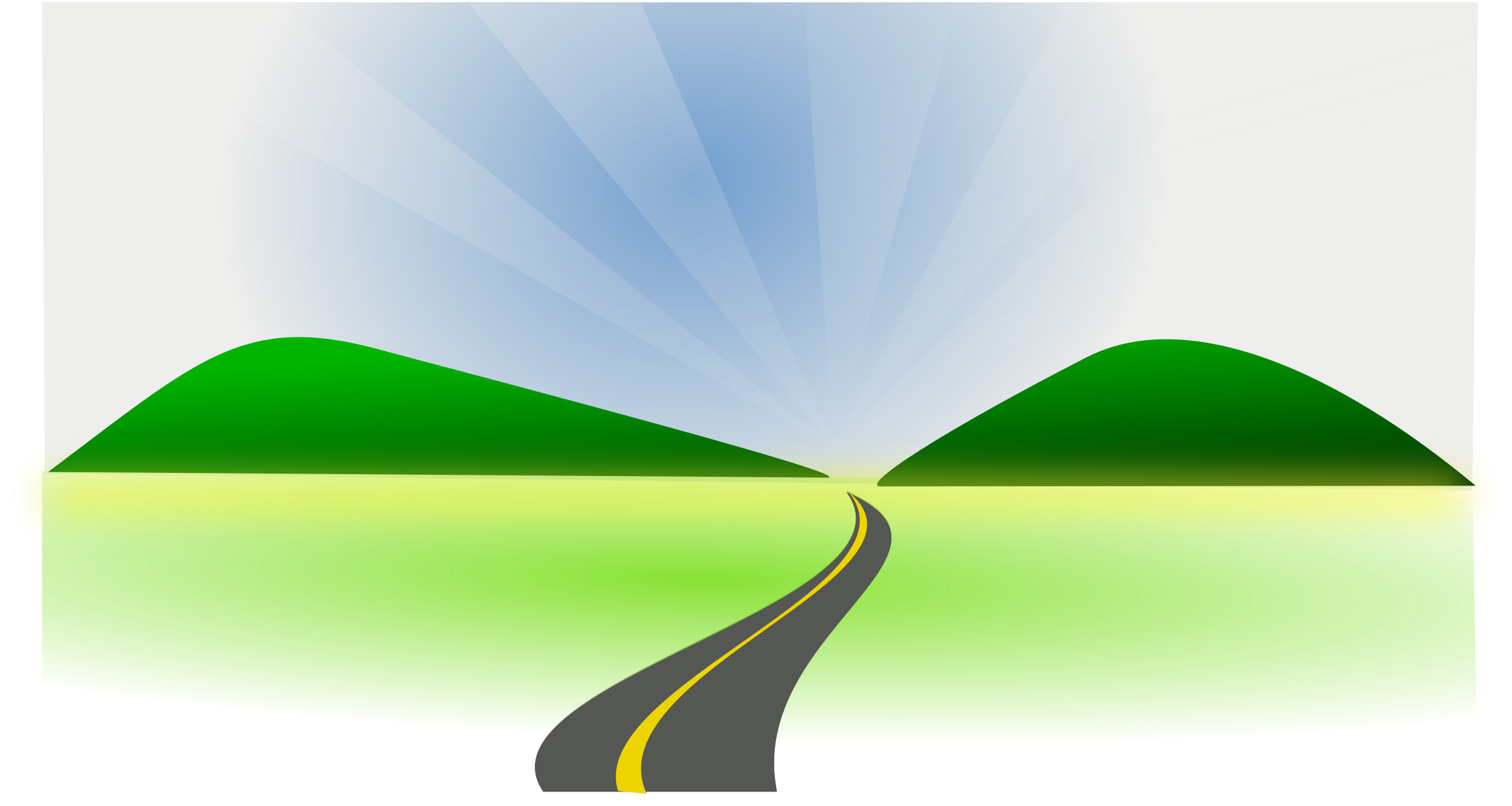 2400x1280 Pathway Clipart Straight Road