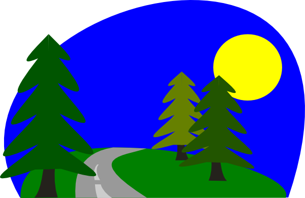 600x390 Country Road Clipart