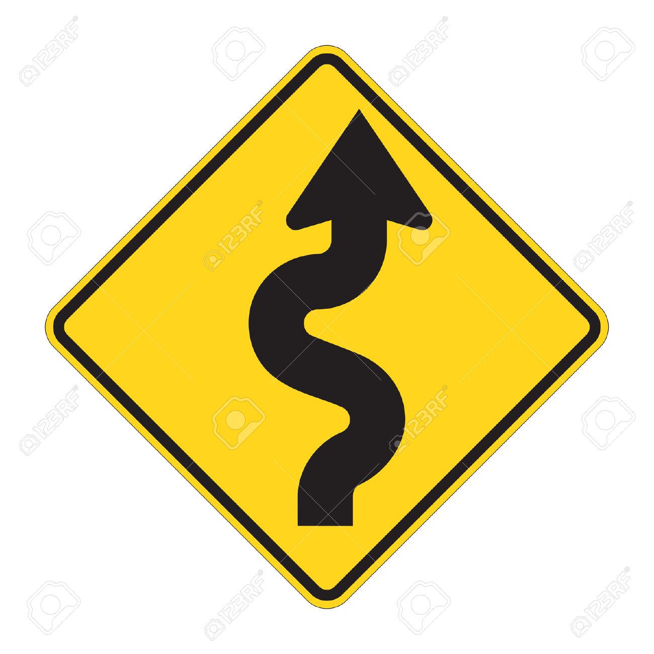 1300x1300 Curve Clipart Zigzag Road