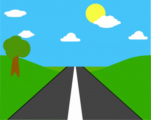 615x491 Horizontal Road Clipart