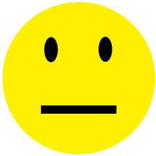 225x225 Straight Face Smiley Faces Clipart