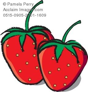 287x300 Art Illustration Of Strawberries