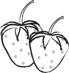 287x300 Drawn Strawberry Clip Art