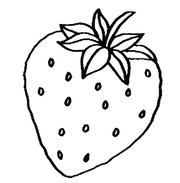 Strawberry Clipart Black And White