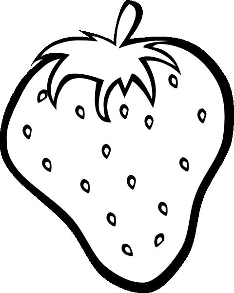 480x600 Outline Strawberry Clip Art