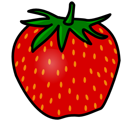 410x410 Strawberry Clipart Black And White Free