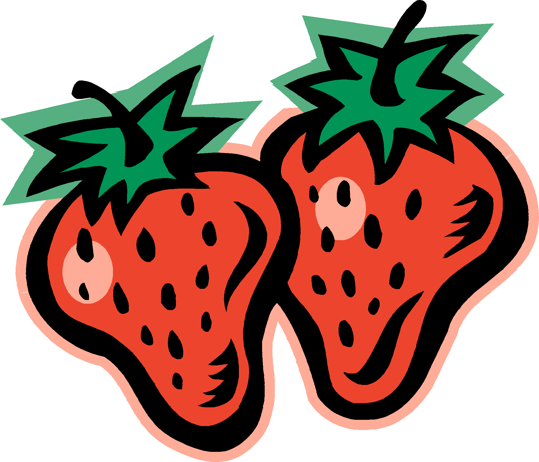 2071x1774 Strawberry Clipart Black And White Free Clipart 2