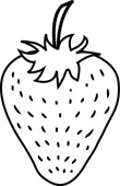 110x170 Strawberry Clipart Outline