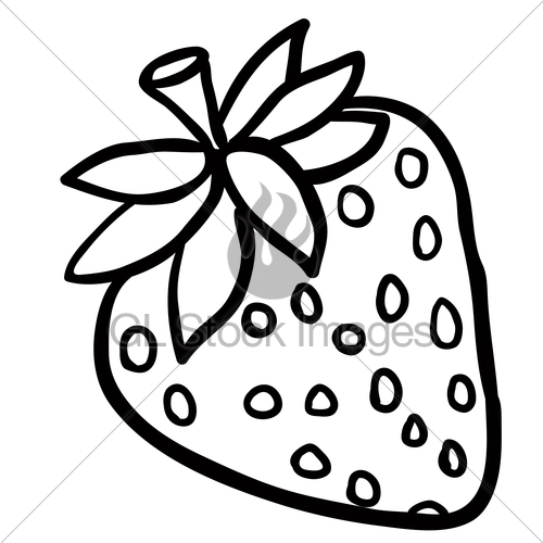 500x500 Black And White Strawberry Gl Stock Images