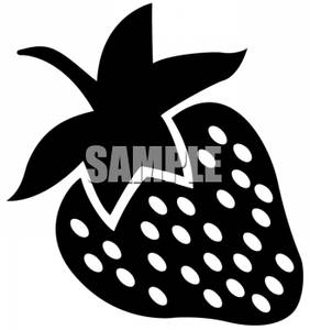 282x300 And White Strawberry Clipart Picture