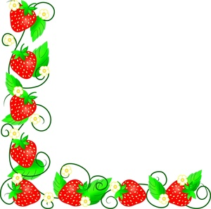 300x297 Fresh Strawberries Clipart Image